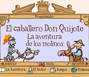 El caballero Don Quijote y la aventura de los molinos | Edelsa