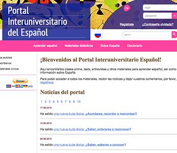 Portal interuniversitario del español | Edelsa