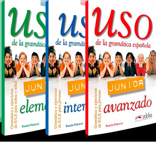 Uso de la gramática española Junior para niños y niñas - Nivel elemental, intermedio y avanzado
